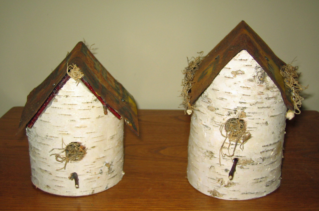 birch craft make a birdhouse using birch and old signs