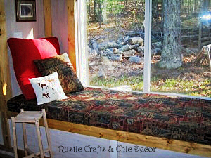 how to make a window seat cushion by rustic-crafts.com