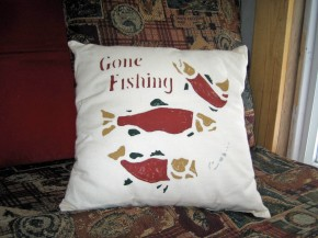 fishing pillow