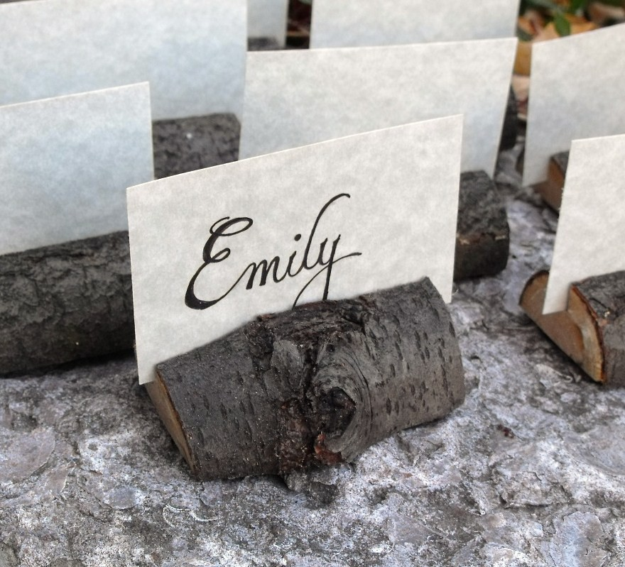 Wedding Place Card Holder Ideas: Rustic Crafts & Chic Decor