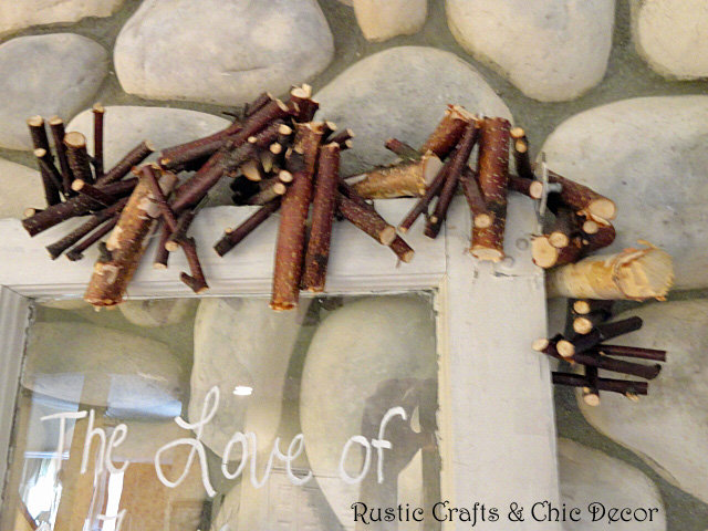 Rustic diy garland using birch branches crafts