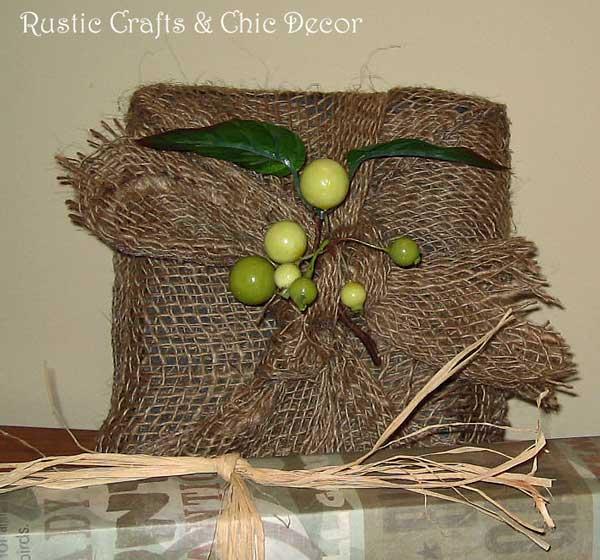 burlap garland gift wrap