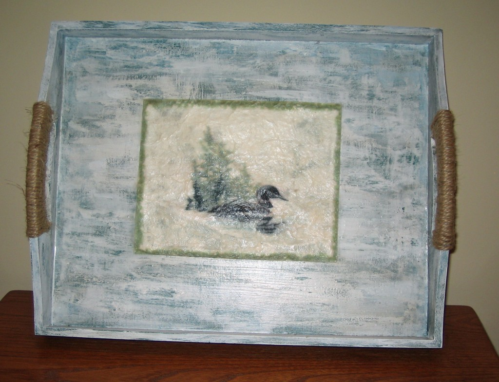Distressed Paint Techniques For A Rustic Tray Rustic
