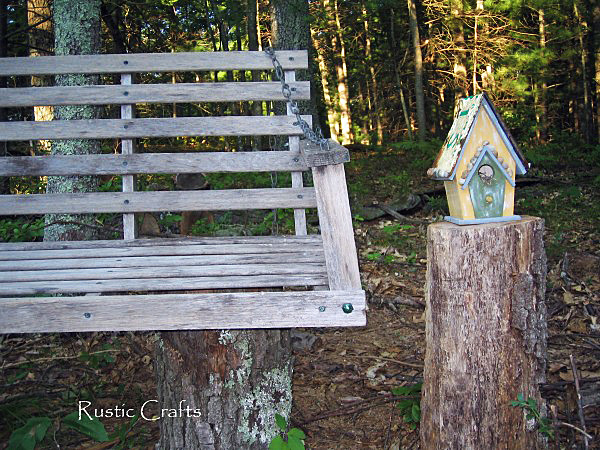 rustic outdoor seating