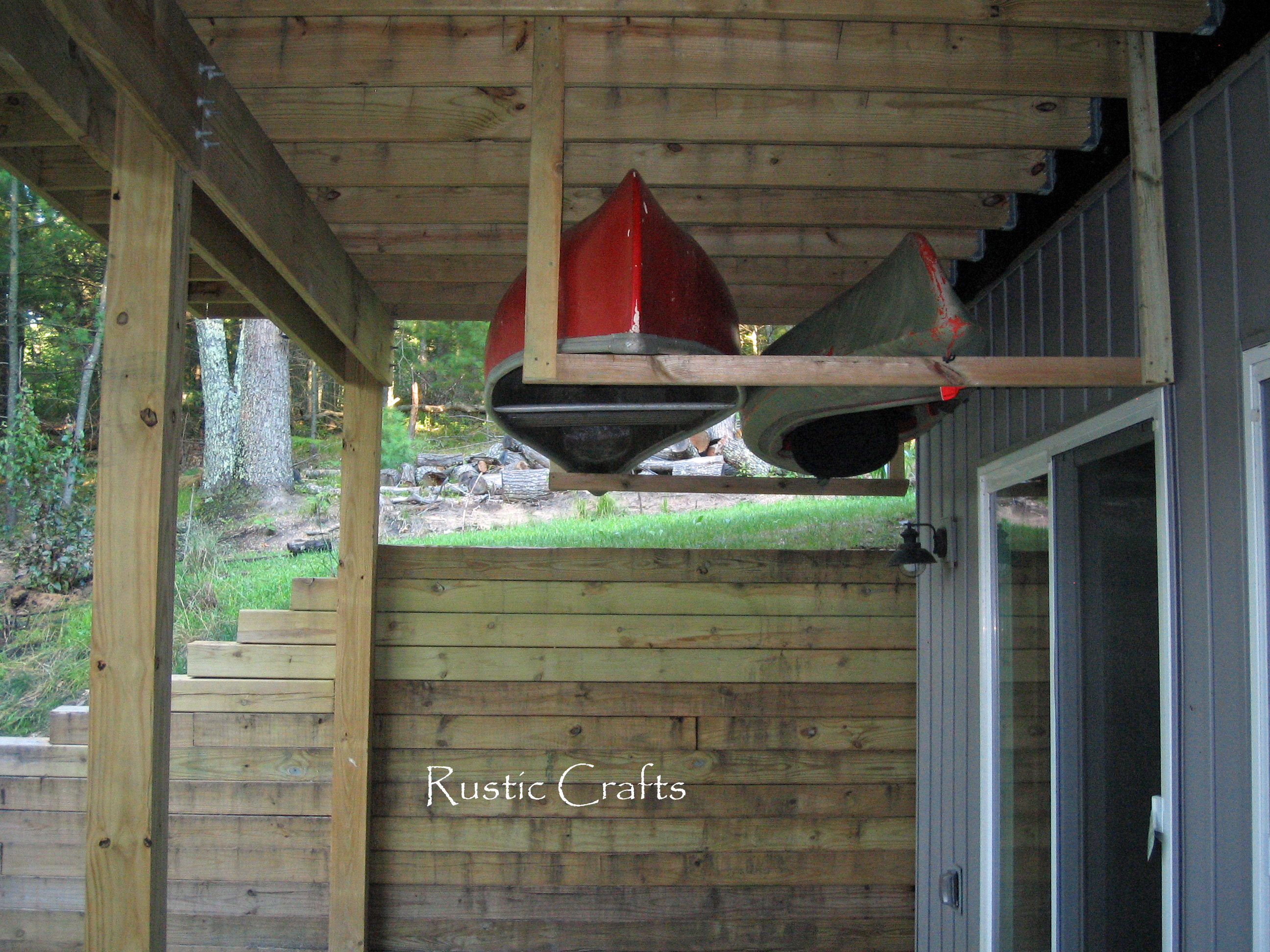 How To Build A Rustic Patio Out Of Recycled Brick Rustic & Canoe Storage Ideas - Listitdallas