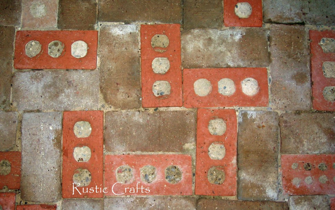 how to build a rustic patio out of recycled brick rustic