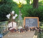 rustic picnic centerpiece