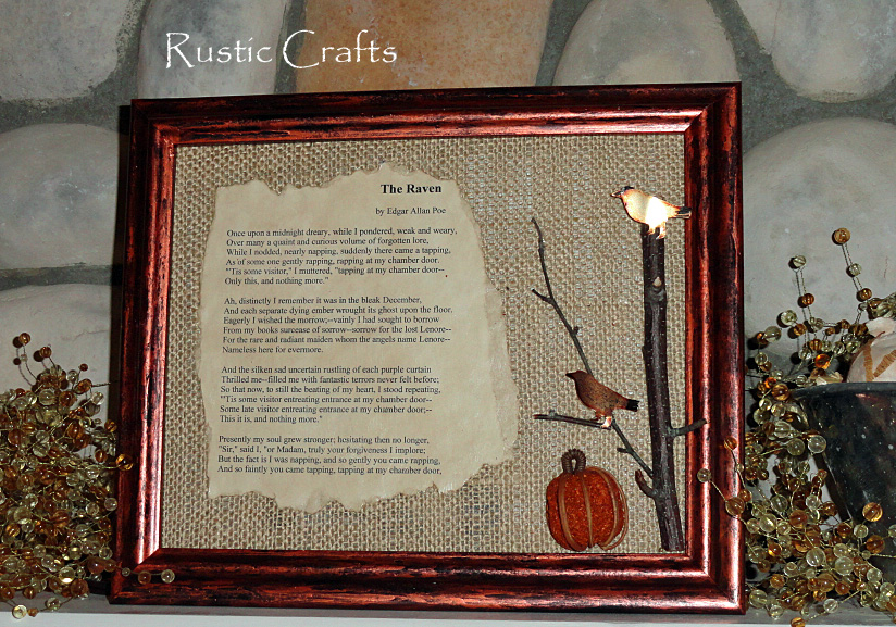 Halloween edgar allen poe craft rustic crafts chic for Antique books for decoration