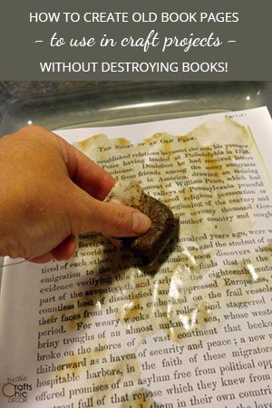 book crafts use old book pages without destroying books