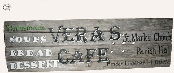 vintage kitchen sign