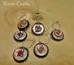 bottle cap wine charms