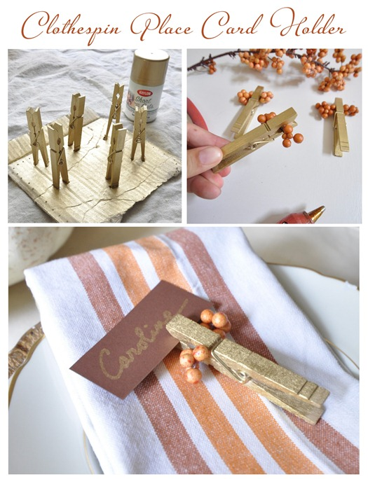 Place Card Holders You Can Make For Your Thanksgiving
