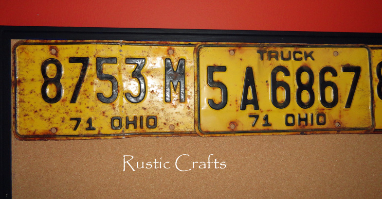 Decorate A Bulletin Board With Antique License Plates - Rustic ...