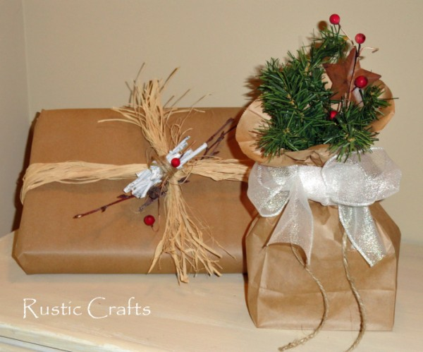 Gift Wrapping Ideas Using Lunch Bags And Kraft Paper