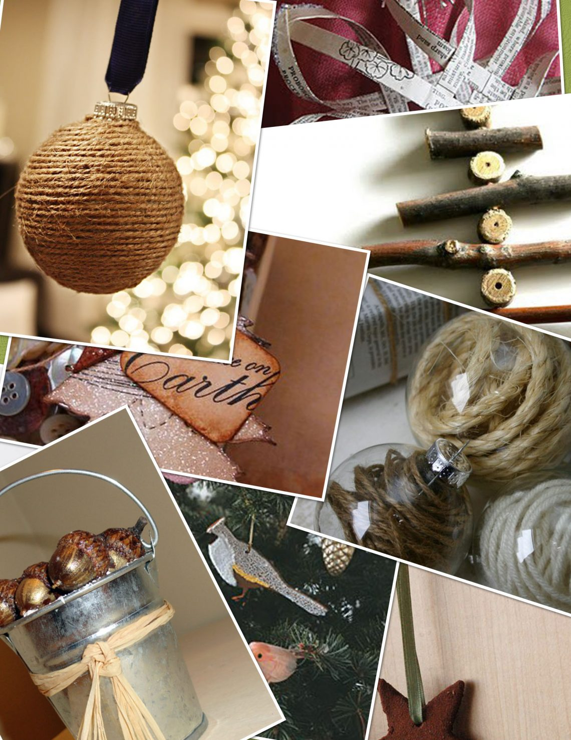 Homemade rustic christmas ornaments - Check Out This Large Collection Of Homemade Christmas Ornaments In A Rustic