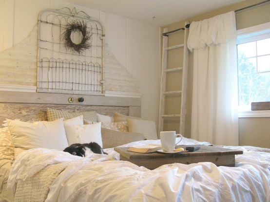 Decorating With White In A Rustic Shabby Chic Bedroom ...