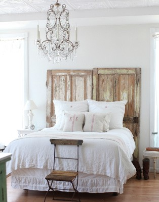 Decorating With White In A Rustic Shabby Chic Bedroom | Rustic