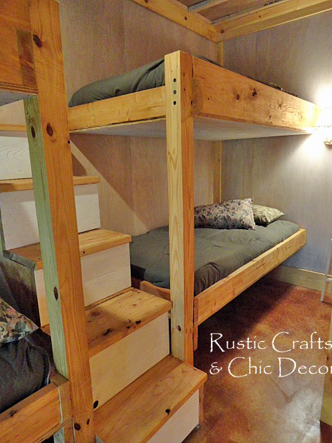 Bunk beds with privacy and actual stairs. I hate those ladders that 99.9%  of bunks come with. | For the Home | Pinterest | Bunk bed, Bunk bed plans  and Bed ...