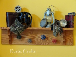 rustic entryway shelf