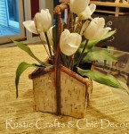 birch and burlap table decor
