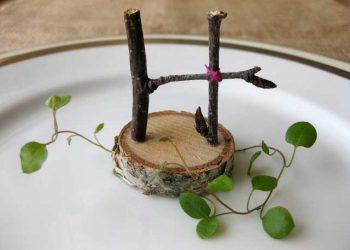 rustic birch crafts - birch branch monogram letters