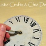Demonstration of cutting out center hole in clock face for hands.