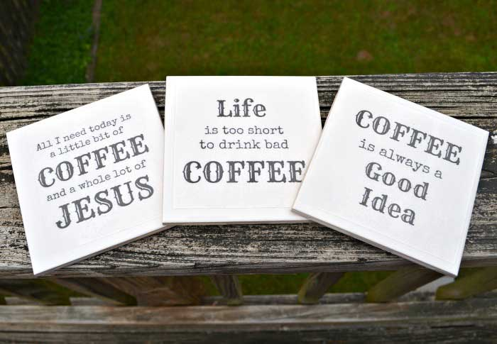 diy coffee coasters