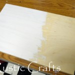 Demonstration for painting wood with white latex paint.