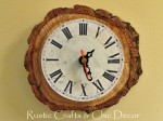 rustic chic clock