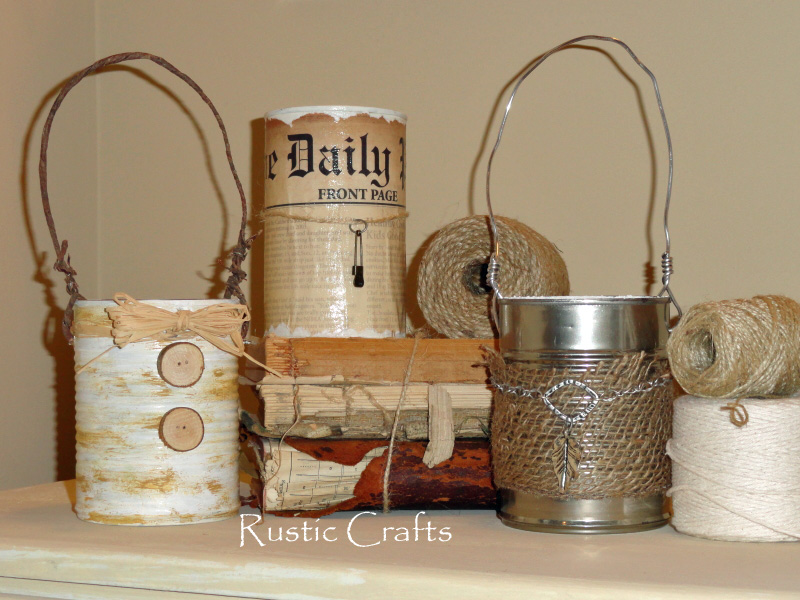 Top ten things to reuse in recycled crafts plus tutorials for Tin cans for crafts