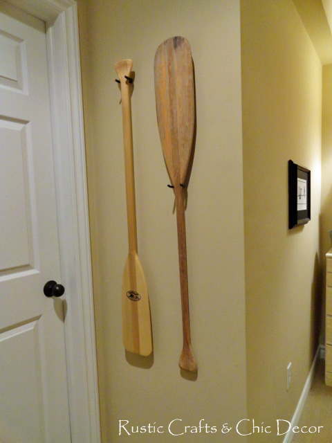 Rustic decorating with canoe paddles rustic crafts amp chic decor