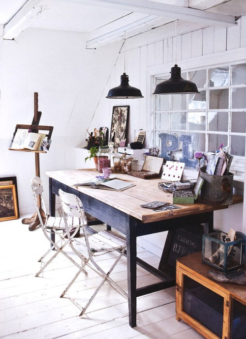 cool shabby chic home office decor | Decorate A Home Office Shabby Chic Style - Rustic Crafts ...