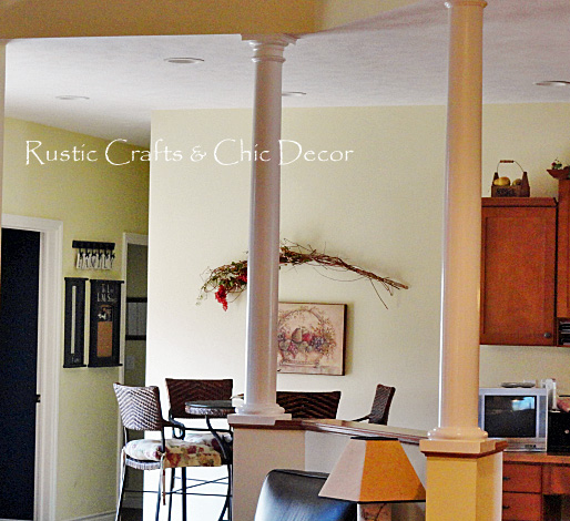 decorating with columns bring the old and weathered inside rustic