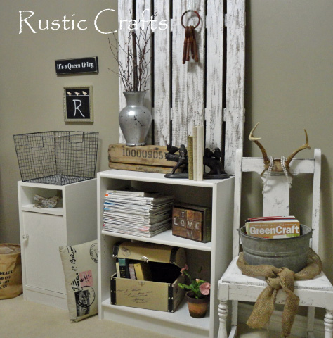 decorate a home office shabby chic style rustic crafts chic decor. Black Bedroom Furniture Sets. Home Design Ideas