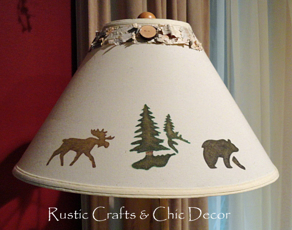 Diy lamp shades in a rustic chic style rustic crafts chic decor Home decorators lamp shades