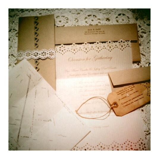 Vintage Wedding Invitations You Can Make Yourself