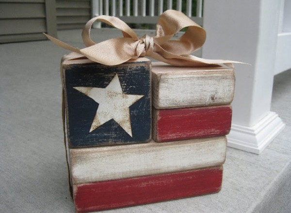 Rustic chic 4th of july crafts rustic crafts chic decor for Where to buy wood blocks for crafts
