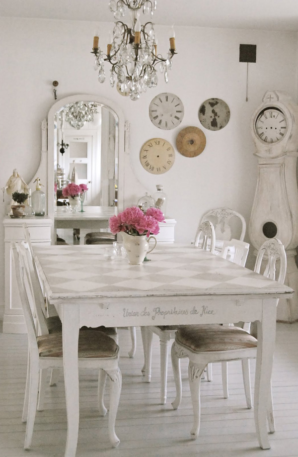 alfa img showing shabby chic dining decor