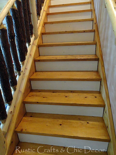 Painting And Staining Stairs A Before And After Rustic