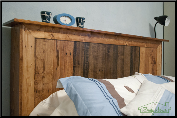 Feature pallet headboard fit to be an heirloom rustic for How to make a headboard out of pallets