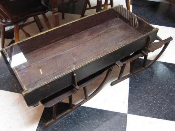 Unique coffee tables made from vintage finds rustic for Sled coffee table