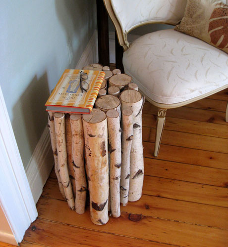 Shabby chic decorating with birch rustic crafts chic decor for Log craft ideas