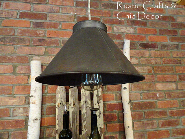 Our Homemade Vintage Light Project Rustic Crafts Chic Decor