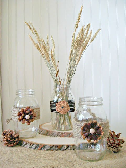 mason-jar-pine-cone-flowers