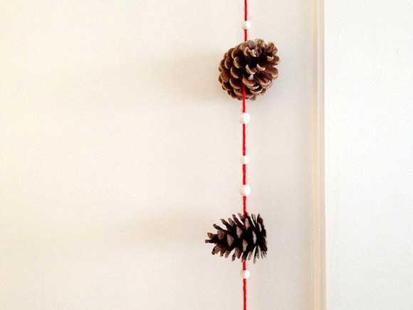 pine cone crafts garland