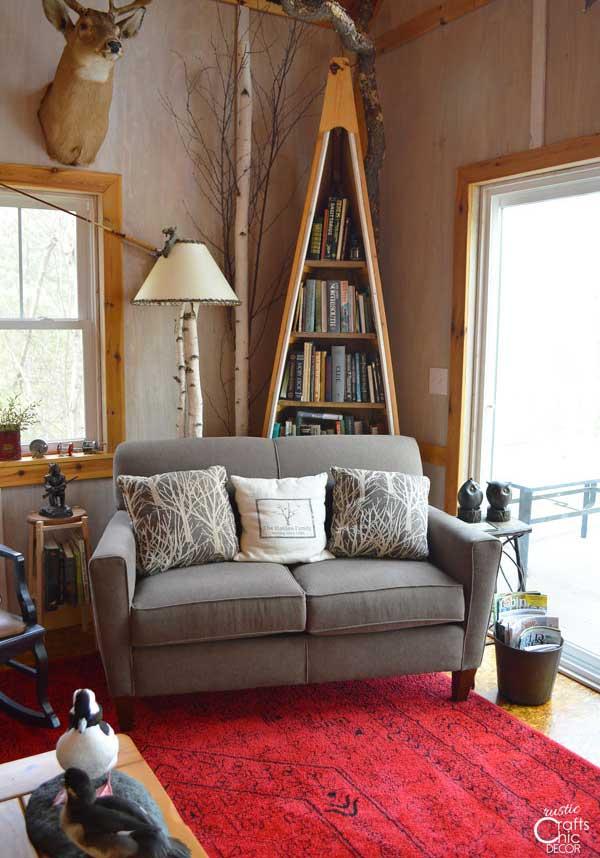 shabby chic decor with birch