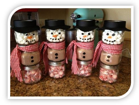 Christmas jar snowmen by Bargain Blessings Homemade Crafts To Sell