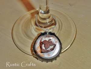 bottle cap wine charm