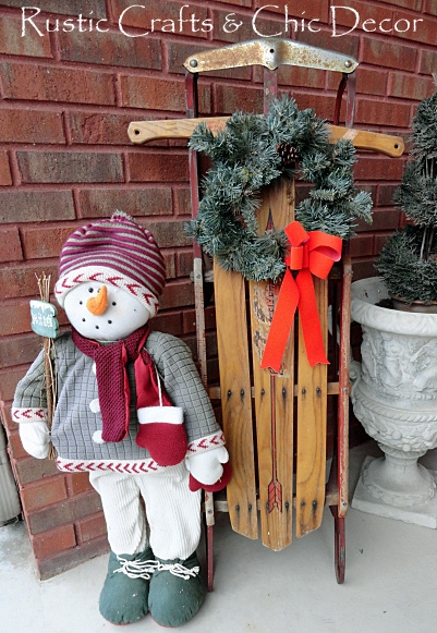 Country Christmas Decor Outside : Rustic country christmas decor