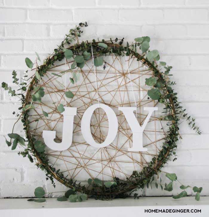 DIY rustic Christmas wreath